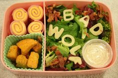 Muffin Tin Monday and Doctor Who, Bad Wolf salad.