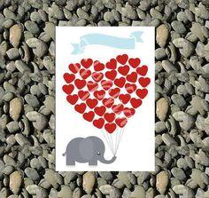 Livre d'or en forme de coeur avec des par LittleAndCuteThings