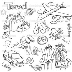Travel doodles