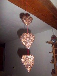 Valentýnská dekorace z kávových zrnek