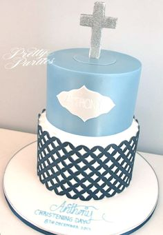 Pretty Parties - Custom Cakes CH-47 Christening / Communion / Confirmation Cake www.prettyparties.net.au