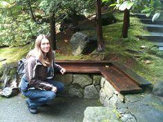 Bench, Japanese Garden, Portland, Oregon