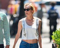 Crop top #outfits: Diane Kruger, en Nueva York