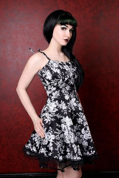 French Bouquet Tie Dress :: VampireFreaks Store :: Gothic Clothing, Cyber-goth, punk, metal, alternative, rave, freak fashions