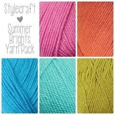 Summer is here and Stylecraft's latest addition to the Special DK family Lime has just arrived. Its such a great match with the current colours we popped it into a summer bright yarn pack. Our Summer Bright Yarn Pack features 5 balls of Stylecraft Spec Green Colour Palette, Color Palate, Colour Pop, Color Combinations Home, Color Combos, Color Collage, Yarn Inspiration, Color Me Beautiful, Yarn Shop