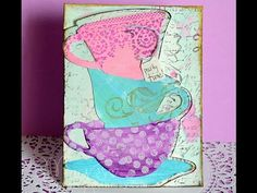 Invitation made with Tim Holtz teacup dies (inspired by Ever After High) - YouTube