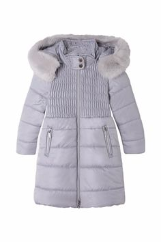 f7760d82865 Mayoral Silver Trench Coat - Main Image Childrens Shop