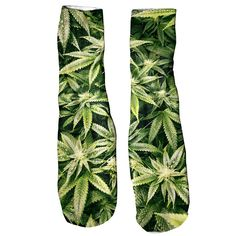 Kush Leaves Foot Glove Socks