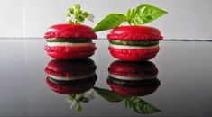 Italian Macaron tomate/basilic/mozzarella Nutella Macarons, Vegan Macarons, Italian Macarons, Pistachio Macarons, Macaron Flavors, Macaron Recipe, Vegetarian Appetizers, Great Appetizers, Canapes Recipes