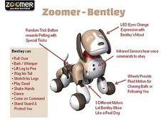 Zoomer's Best Friend Bentley Robot Dog Toy Interactive - New In Box! (Nib)