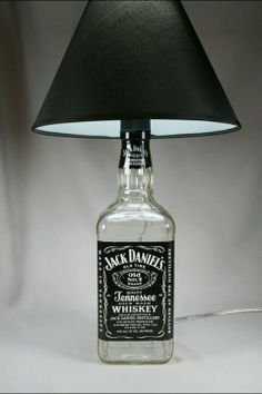 Jack daniels lamp. My husbands favorite drink.
