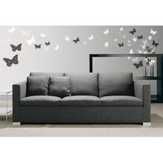 Grey living room? With pale yellow accents this would be perfect! Not long til I can start decorating a house of my own!