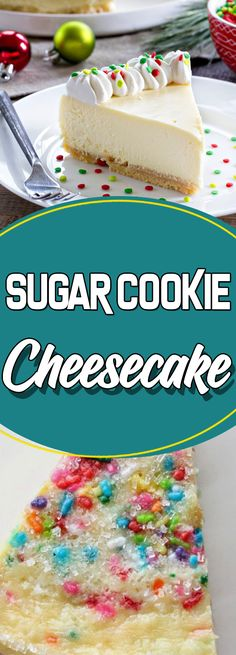 Sugar Cookie Cheesecake #desserttable #easyrecipes #recipes #dessert #dessertrecipes #appetizer
