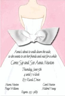 Pink Here Comes The Bride Invitations
