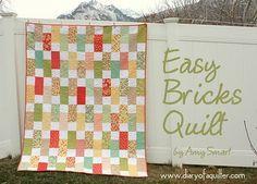 Moda Bake Shop: Easy Strawberry Fields Bricks Quilt