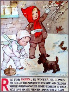 Soloillustratori: E.W.B. Vintage Art Prints, Vintage Lettering, Nursery Rhymes Poems, Erte Art, Japanese Drawings, Kids Poems, Abc For Kids, Vintage Fairies, Alphabet Book