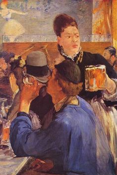 Beer Waitress by Eduard Manet - Art Print  #9785872587217 #Buyenlarge #EdouardManet #FineArt #New