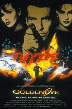 Golden Eye, James Bond - 1995  This one might be the first movie of James Bond I saw at theater and 2nd movie of James Bond I saw... I did not like James Bond..but starting from this, I started to see James Bond movie..