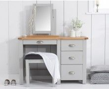 Shop the Somerset Oak and Grey Dressing Table Set at Oak Furniture Superstore. Grey Painted Furniture, Oak Bedroom Furniture, Bedroom Sofa, Home Furniture, Bedroom Inspo, Upcycled Furniture, Bedroom Decor, White Dressing Tables, Dressing Table Set
