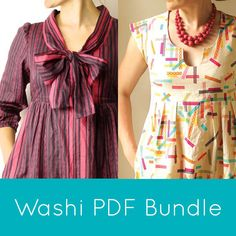 Made by RAE  |  Washi Bundle (Want both Washi Patterns? This bundle includes both the Washi Dress and the Washi Expansion Pack sewing pattern PDFs).