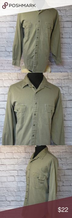 """Abercrombie & Fitch Olive Brown L/S Shirt M44 EUC Please double-check measurements below for a proper fit.   THE FIT Size - XL CHEST - Armpit to Armpit - About - 29"""" SHOULDERS - Seam to Seam - About - 23"""" SLEEVE - Center of Collar to End of Cuff - About - 37"""" LENGTH - Base of Collar to Hem - About - 35""""  THE DETAILS Long Sleeve Front Pockets 100% Cotton  PLEASE FOLLOW MY CLOSET FOR GREAT NEW DEALS EVERYDAY! THANK YOU FOR YOUR BUSINESS! Abercrombie & Fitch Shirts Casual Button Down Shirts"""