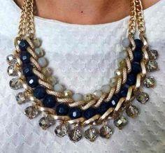 Collar Cristal Perlas Bisutería Joyas Mayoreo Y Menudeo!!!