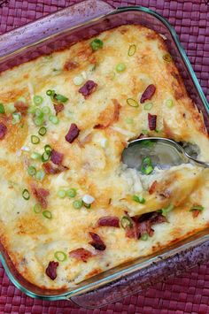 Mashed Potatoes with Gouda and Bacon | A Hint of Honey
