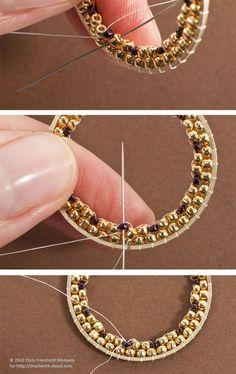 Beading Inside Hoop Earrings Instructions