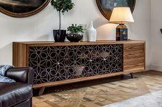 Granada 3 Door, 3 Drawer Buffet in Walnut by Tonin Casa