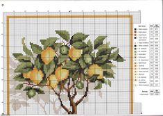Lemon tree cross stitch pattern (1) - free cross stitch patterns crochet knitting amigurumi