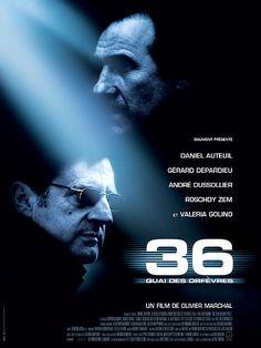 36 Quai des Orfèvres est un film de Olivier Marchal avec Daniel Auteuil, Gérard Depardieu. Synopsis : Paris. Depuis plusieurs mois, un gang de braqueurs opère en toute impunité avec une rare violence. Le directeur de la PJ, Robert Mancini a été parfait