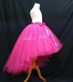 FNA FASHIONS Tutu Skirt 3 Layers Kid Dress Belt Mesh Pink Girl Party Tiered Wear Skirts Fancy