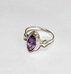 925 Solid Sterling Silver Natural Amethyst by gemsnjewelryworld