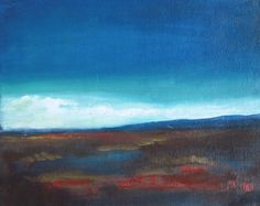 """After Rain - Original oil painting -  abstract landscape - canvas board - 8""""x10"""""""