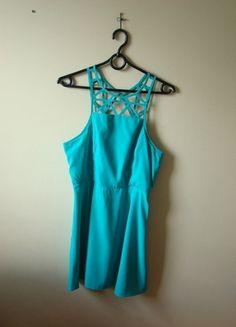 Kup mój przedmiot na #vintedpl http://www.vinted.pl/damska-odziez/krotkie-sukienki/10431367-turkusowa-sukienka-american-eagle-outfitter