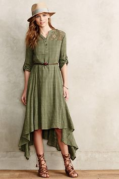 Tindaya Maxi Dress #anthropologie  very loose sillouette.  gathered in back,,  see back view