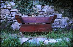 wood cradle made from an old kneading trough