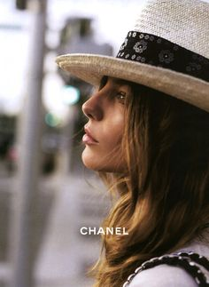 chanel panama hat summer vibes. | via @TheyAllHateUs
