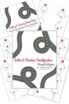 The Inspired Treehouse - These Cutting Practice Road Maps are perfect for working with kids on letter and number identification and reversals! Rainy Day Activities For Kids, Preschool Learning Activities, Play Based Learning, Teaching Kids, Cutting Activities, Team Building Activities, Physical Education Games, Health Education, Physical Activities