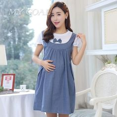 Retail Maternity Clothes Summer Dress For Pregnant Women Casual Cotton Maternity Dresses 2016 New Maternity Fashion Dresses, Maternity Dresses Summer, Maternity Midi Dress, Cute Maternity Outfits, Pregnancy Outfits, Summer Dresses, Dresses 2016, Maternity Style, Clothes For Women