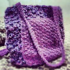 purple crocheted bag ^_^
