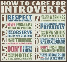 I think I should print this out & give a copy to my new boss. Whew! She's very determined to change me big time! Me=extrovert?!! Nah! She's better be patient cause it would take a while...(´-`)