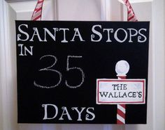 Christmas countdown  Funny that it happens to have our last name's on there! :)