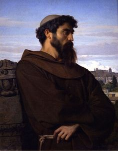 Alexandre Cabanel - Un penseur, jeune moine romain