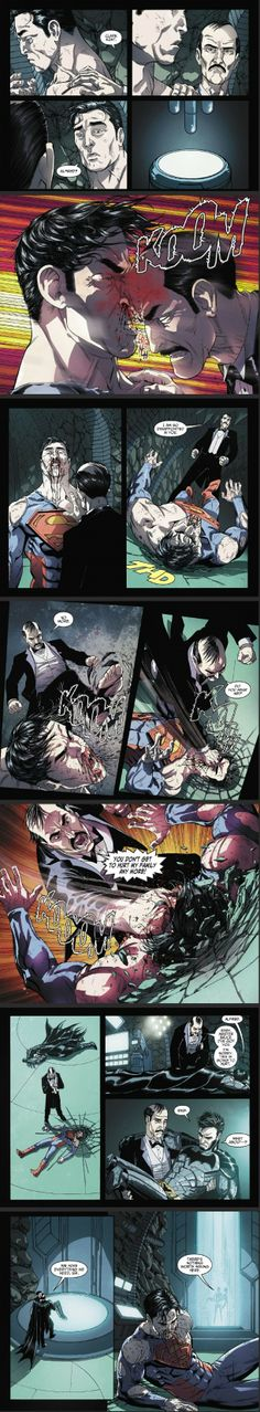 Don't mess with Alfred Pennyworth <<<--- Read somewhere this is from a comic where Batman/Bruce developed a serum that gave humans Superman like strength. And yes, he did just own Superman! Marvel Dc Comics, Bd Comics, Gotham, Harley Quinn, Batman Y Superman, Comic Art, Comic Books, Nananana Batman, Univers Dc