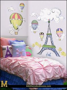 Paris Themed Bedroom | Paris Bedding Theme For Girls | Decorating theme bedrooms - Maries ...