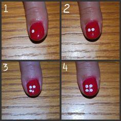 Simple flower finger nail design tutorial ♡