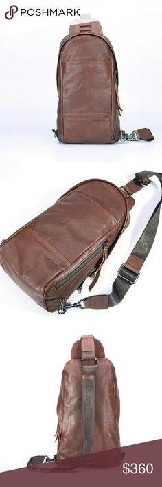 HAUT-TON Genuine Leather 100% Authentic Men's Bag Top high quality cowhide genuine leather bag Adjustable crossbody strap on any bottom side for more comfort Produced by HAUT-TON company, European popular fashion style Brand new with all tags. HAUT-TON  Bags