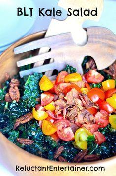 BLT Kale Salad   ReluctantEntertainer.com