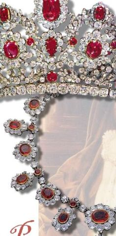 Rubin - Parure der französischen Krone Ruby Parure France The Magnificent Ruby and Diamond Necklace from the Crown Jewels of France http://www.royal-magazin.de/french/rubin-tiara-france.htm